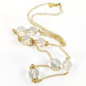 NWOT! J. Crew Necklace Clear Glossy Glass Beads